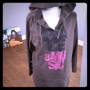 Gray hoodie dress